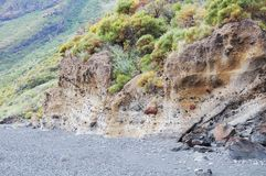 Volcanic beach. Royalty Free Stock Photography