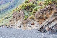Volcanic beach. Royalty Free Stock Photography