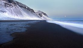 Volcanic beach iceland Stock Photo