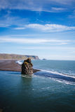 Volcanic beach of Iceland. Royalty Free Stock Photos