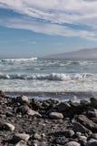 Volcanic beach at Puerto de la Cruz Royalty Free Stock Photo