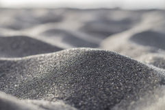 Volcanic black sand abstract and blurred closeup Royalty Free Stock Photos