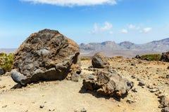 Volcanic bombs on Montana Blanca, Teide National Park, Tenerife Royalty Free Stock Image