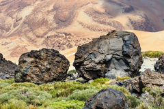 Volcanic bombs on Montana Blanca, Teide National Park, Tenerife Stock Photos