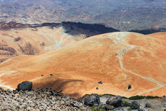 Volcanic bombs on Montana Blanca, Teide National Park, Tenerife, Canary Islands, Spain Stock Image