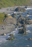 Volcanic Boulders by the Oregon Sea Stock Photos