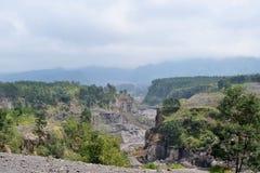 Volcanic canyon Stock Photography