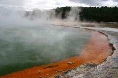 Volcanic Champage Pools. Champagne Pool, hot thermal spring, Rotorua, New Zealand Royalty Free Stock Photography