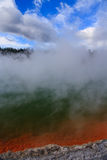 Volcanic Champage Pools. Champagne Pool, hot thermal spring, Rotorua, New Zealand Royalty Free Stock Image
