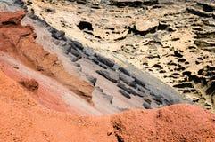 Volcanic chromatic discordance Stock Images