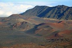 Volcanic cinder cones in Haleakala Stock Images