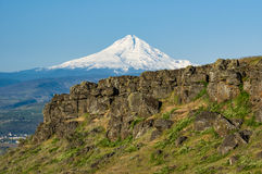 Volcanic cliffs of the Columbia Gorge Stock Photos