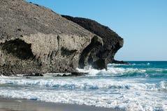 Volcanic coast Royalty Free Stock Photo