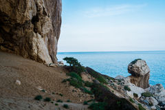 Volcanic coast in Cala Gonone Royalty Free Stock Photo