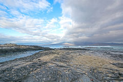 Volcanic Coast in the Galapagos Stock Photo