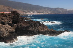 Volcanic coast of La Palma, Canary Islands Stock Photo