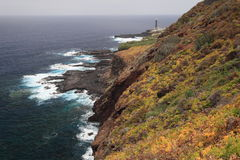 Volcanic coast of La Palma near La Fajana, Canary  Royalty Free Stock Photos