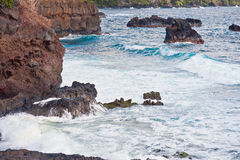 Volcanic Coast Maui Island of Hawaii Stock Images