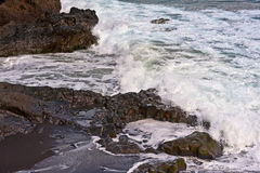 Volcanic Coast Maui Island of Hawaii Stock Photography