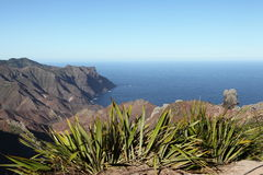 Volcanic coastline of Sandy Bay on St Helena stock images