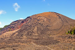 Volcanic Cone in Hawaii. The Spatter cone of Kilauea Iki in Hawaii Volcanoes National park Stock Photo