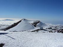 Volcanic cone, Mauna Kea, Big Island, Hawaii Stock Image