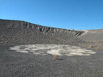 Volcanic Crater. Inactive volcanic crater in Death Valley national park in California called Ubehebe Crater Royalty Free Stock Images