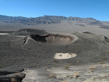 Volcanic crater. Inactive volcanic crater in the Death Valley national park in California called Ubehebe Crater Stock Photo