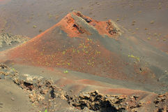 Volcanic crater Royalty Free Stock Images