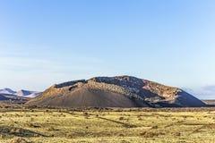 Volcanic crater of caldera blanca Royalty Free Stock Photos