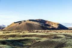 Volcanic crater of caldera blanca Royalty Free Stock Images
