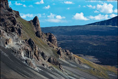 Volcanic Crater Details Royalty Free Stock Photo