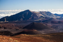 Volcanic crater at Haleakala National Park on the island of Maui, Hawaii. Royalty Free Stock Photo
