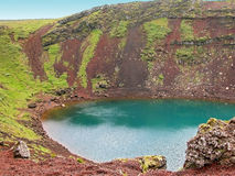 Volcanic crater lake Kerid Royalty Free Stock Photography