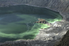 Volcanic crater lake Royalty Free Stock Photography