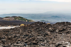 Volcanic crater on Mount Etna Royalty Free Stock Photography
