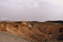 The volcanic crater of Nea Kameni Stock Photos