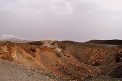 The volcanic crater of Nea Kameni Stock Photos