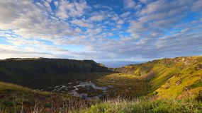 Rano Kau, Easter Island, Chile royalty free stock photos