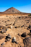 Volcanic crater on Sal Island Stock Images
