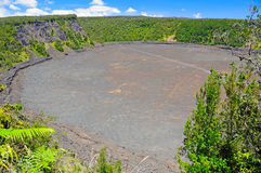 Volcanic Crater in the Tropics Stock Images