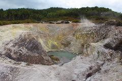 Volcanic Creator. One big hole with hot mud too Stock Image