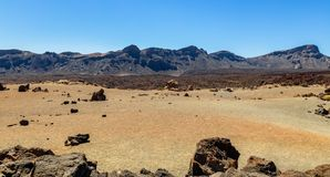 Volcanic Desert. Caused by the Teide volcano in Tenerife Royalty Free Stock Photos