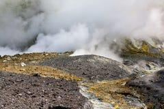 Volcanic Desert, Smoking Earth Stock Images