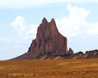 A Volcanic Dike and Shiprock Royalty Free Stock Photo