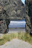 Volcanic Doorway to the Sea Royalty Free Stock Image