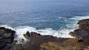 Volcanic east coast of Oahu stock footage