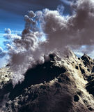 Volcanic eruption. Huge volcano eruptions seen from above Royalty Free Stock Photos