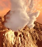Volcanic eruption Stock Photos