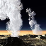 Volcanic eruption Royalty Free Stock Photography